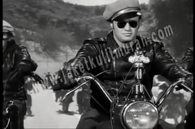 Jaket Kulit Vintage biker Marlon Brando