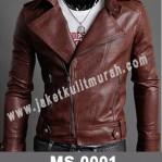 Jaket Kulit Slim Fit Pria MS-0001