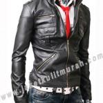 Jaket Kulit Slim Fit Pria MS-0006